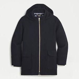 J. Crew Swing Coat Stadium-Cloth Wool Black 8